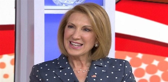 An Open Letter To Carly Fiorina: Thank You For Showing How Strong Conservative Women Are