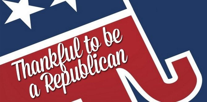 5 Reasons To Be Thankful You're A Republican