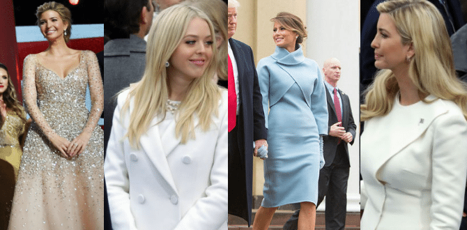 Trump Ladies' Fashion Wow Crowds At Inauguration Events