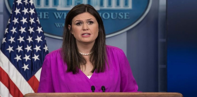 Sarah Huckabee Sanders Announces Departure From White House