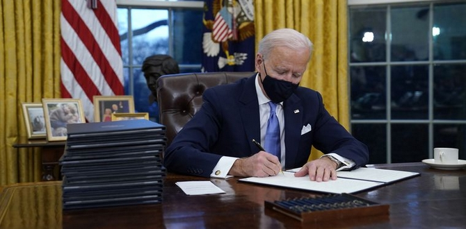 President Biden Signed 17 Executive Orders On His First Day of Office, Let's Break It Down